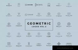 极简主义几何图形Logo标志模板
