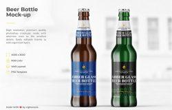 啤酒瓶外包装设计效果预览模板