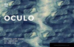 10+抽象油画效果肌理纹理素材 Oculo