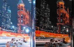 打造科技之城黑橙撞色Lightroom预设滤镜