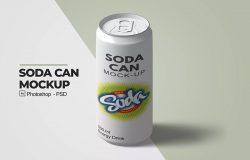 碳酸饮料/苏打水易拉罐产品外观预览样机V.3 Soda Can Mockup V.3