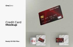 信用卡多方位展示样品广告设计