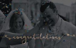 充满浪漫气息的手写英文字体 Featherly Bold – wedding swash font