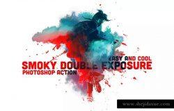 烟雾特效双重曝光PS动作 Smoky Double Exposure