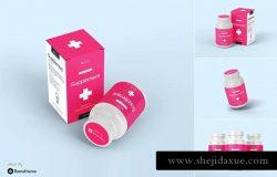 营养补充瓶药品包装设计样机模板V1 Supplement Bottle Mockup vol.1