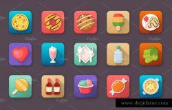60款创意食品饮料app图标 60 Food and Drinks App Icons