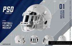 全方位橄榄球头盔展示样机 Football Helmets Mockup Template [psd]