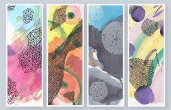 抽象水彩纹理图案