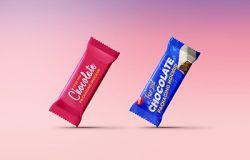 巧克力包装袋贴图样机