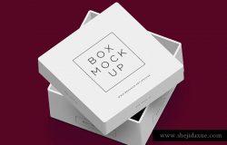 白色包装盒子Mockup Free PSD Packaging Box Mockup