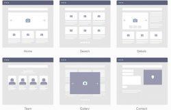 专业的网站线框图模型