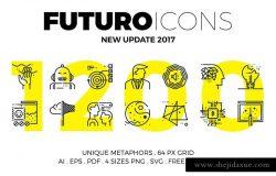 创意多用途线条图标合集 Futuro Line Icons Collection