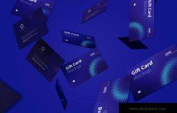 礼品卡积分卡卡片设计设计多视角预览样机模板05 Gift Card Mockup
