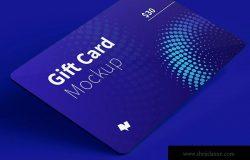 积分礼品卡卡片版式设计效果图样机07 Gift Card Mockup