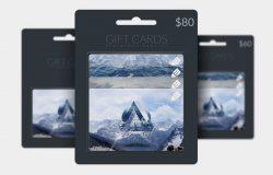 礼品卡展示样机 Gift Card Photoshop Mockup