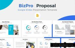 项目投标竞标谷歌幻灯片模板 BizPro. Google Slides Template +Gift