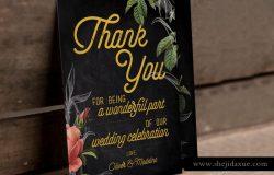手绘花卉婚礼物料设计套件 Hand Drawn Floral Wedding Suite