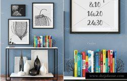 室内艺术品画框样机模板