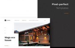 建筑设计适用的网页模板下载[Sketch,Fig]