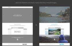 网页设计线框图素材包 Bones Wireframe Kit
