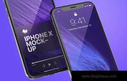 iPhone X手机应用UI界面预览样机