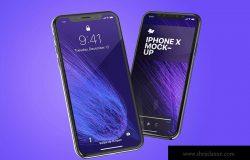 iPhone X手机界面设计效果图预览样机02 iPhone X Mockup 02
