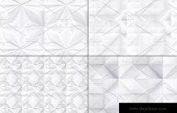 折叠纸无缝纹理图案素材 Folded Paper Texture Patterns