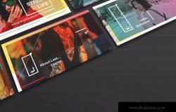 新媒体社交媒体传播设计物料效果图样机模板01 Landscape Perspective Mockup