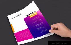 大型杂志封面设计图预览样机02 Large Magazine Cover Mockup