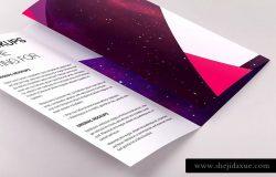 三折页版式设计小册子传单PSD样机01 Legal Trifold Brochure PSD Mockup 01