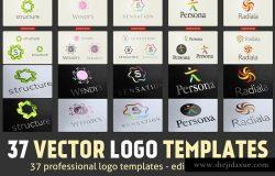 37款矢量Logo设计模板集 37 Vector Logo Templates