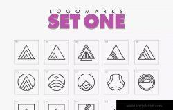 700个精简几何图案Logo模板 Minimal Geometric Logo Marks Bundle