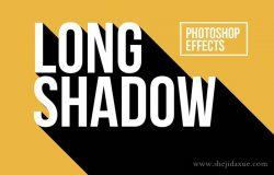 长阴影文字文本样式PS动作 Long Shadow Photoshop Effects