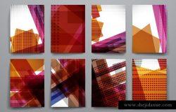 抽象几何线条叠加图形背景 Abstract Backgrounds