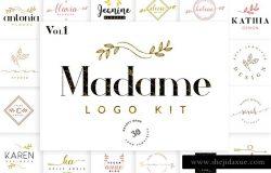 女性品牌Logo标志模板v1 Madame Logo Pack Vol. 1