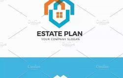 房地产企业Logo模板 Estate Plan