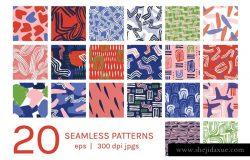 现代抽象彩色波纹图案纹理 Modern New Wave | Patterns