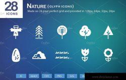28个大自然元素字体图标