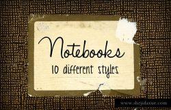 复古做旧记事笔记本封面 Notebook Textures