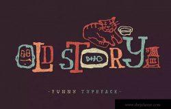 "趣味涂鸦字体 ""Old story"""