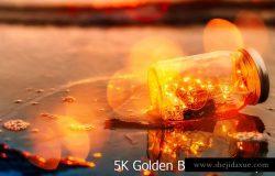 5K分辨率黄金散景叠层背景