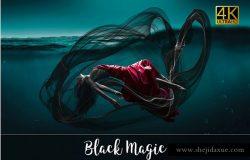 4K分辨率黑魔法叠层背景素材