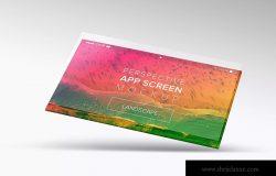 APP屏幕界面设计演示样机模板04 Perspective App Screen Mockup