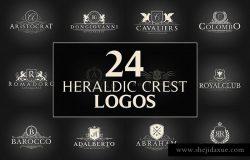 24款复古风格文字图形Logo设计模板