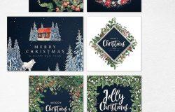 冬季仙境圣诞节新年设计套装