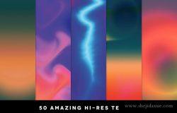 50款七彩渐变抽象线条纹理 50 Gradient Textures Vol. 01