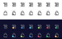140枚基本的电子商务矢量图标集