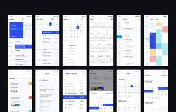 日历/时间表/日期APP应用程序UI设计套件
