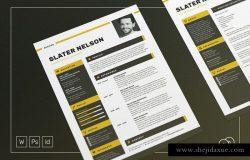 极简主义风格求职简历模板 Slater – Resume/CV