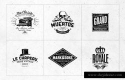 复古标志设计模板v9 Retro Logo Templates V.09